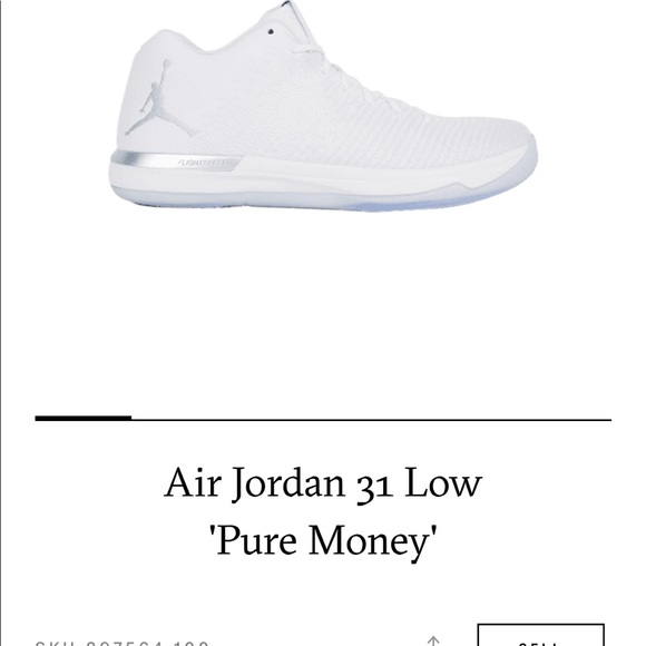 """cheap for discount b25fb 74dd1 Jordan 31 Low """"Pure Money"""" Brand New with box NWT"""